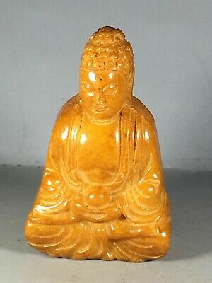 Chinese old natural jade hand-carved buddha statue pendant C108