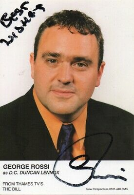 George Rossi Autograph - The Bill - Signed 6x4 Cast Card 2 - Handsigned - AFTAL
