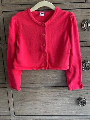 janie and jack Red Cropped Cardigan 4