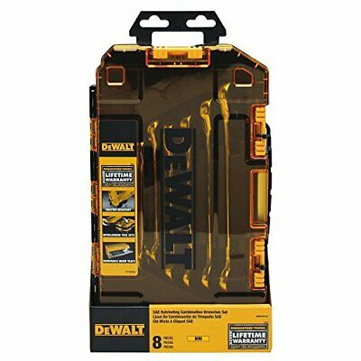 DEWALT Combination Ratcheting Wrench Set, 8-Piece Metric (DWMT74734)