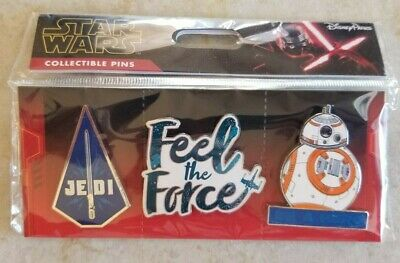 Disney Trading Pins New Lot of 3 Star Wars BB-8 Be a Hero Jedi Feel the Force