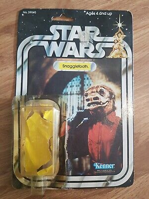 Snaggletooth Star Wars vintage Kenner Figure cardback and bubble