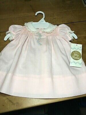 Vintage 1980's Polly Flinders Sz 24 mon. Hand Smocked Baby Dress,Never Worn , OR