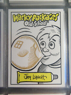 2009 Wacky Packages Old School Series 1 Sketch Card By Jay Lynch - Bubble Kid