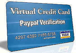 VCC Virtual Visa Credit CARD For Paypal Verification Worldwide