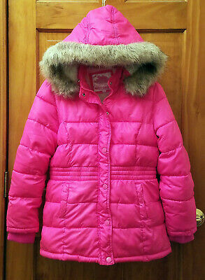 JUSTICE Gilr's Hooded Water Resistant Winter Jacket size 12-14 New With Tags!!!!