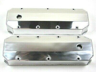 BBC Chevy 454 Fabricated Tall Aluminum Valve Cover w// Holes Polished BPE-2314P