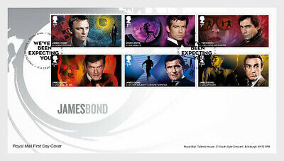 GREAT BRITIAN 2020 James Bond  FDC SET PRE ORDER issue 17-3-'20
