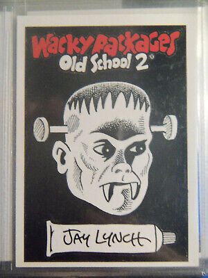2010 Wacky Packages Old School Series 2 Sketch Card By Jay Lynch  - Frankenstein