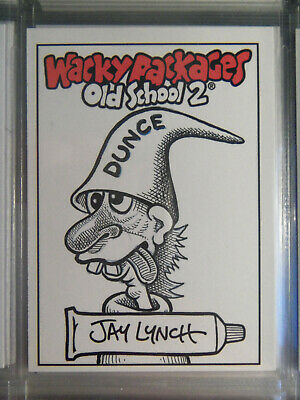 2010 Wacky Packages Old School Series 2 Sketch Card By Jay Lynch  - Dunce Guy