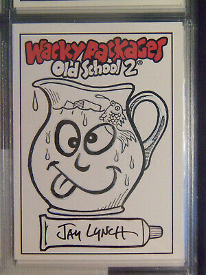 2010 Wacky Packages Old School Series 2 Sketch Card By Jay Lynch - Kook Aid