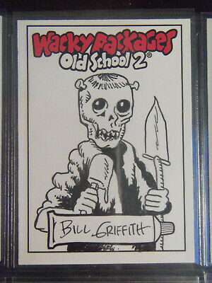 2010 Wacky Packages Old School Series 2 Sketch Card By Bill Griffith - Ghoul