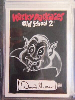 Wacky Packages Old School Series 2 Sketch Card By David Gross Negative Sketch