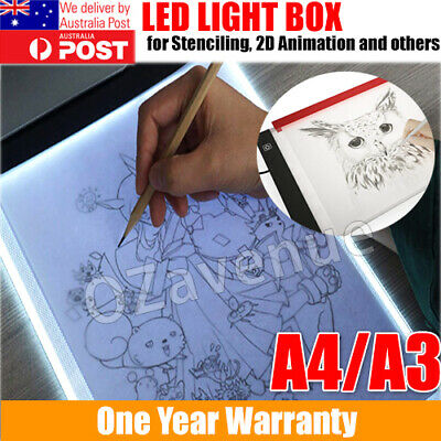 A4 A3 USB LED Artist Thin Art Stencil Board Light Tracing Drawing Pad Table Box