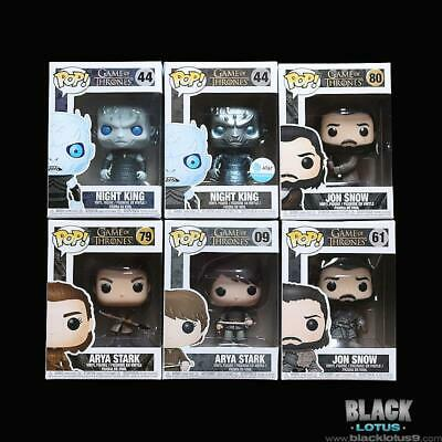 Funko Pop! Jon Snow Arya Stark Spear Night King Metallic ATT Game of Thrones Pop