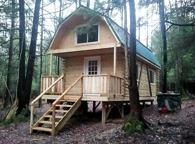 3.4 Acres NY Land 710 s.f. LOG CABIN #7 FINANCING NO RESERVE OFF GRID UTILITIES