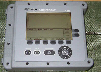 Tempo/Tektronix/Greenlee CableScout TV220 TDR Auto Tester Cable Scout
