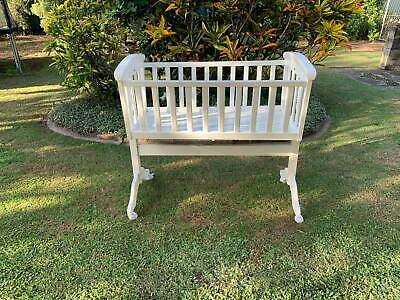 Mothercraft white wooden bassinet