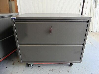 Office 2 X Drawer Lateral Lockable Filing Cabinet Brisbane