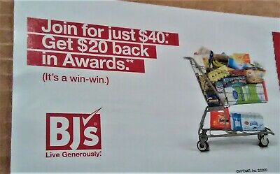 BJ's coupon~$40 for a 1-year (usually $55) ~+$20 in Awards~exp 03/29/20~