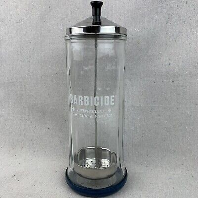 Barbicide Disinfecting Tall Glass Jar, King Research, Fungicide Virucide