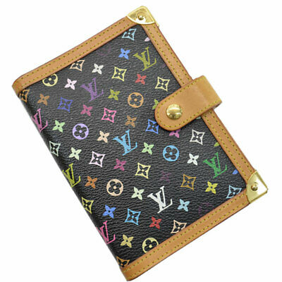 Auth Louis Vuitton Monogram Multicolor Agenda PM Black R20895 - 51303