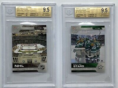 2019-20 Topps Now NHL Stickers Dallas Stars Winter Classic BGS 9.5 Cotton Bowl 2