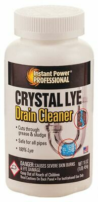 Instant Power Professional Drain Opener, 1 lb. Bottle, Unscented Powder, Ready