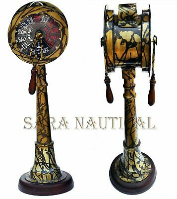 "37"" Brass Ship Telegraph Vintage Patina Finish Marine Engine Room Collectible"