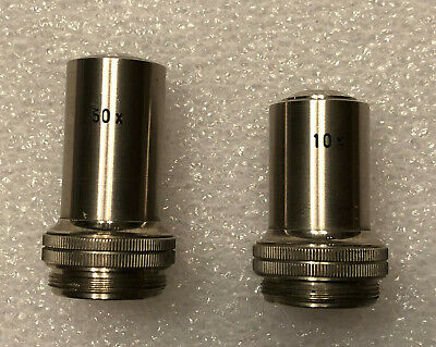 Vintage 50x and 10xx Microscope Objective Lenses