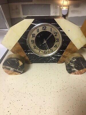 Antique Marble Art Deco Clock WLM6585