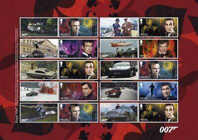 GB 2020 - ** NEW ** James Bond Collector/Generic Smilers Sheet - GS-124/LS-122
