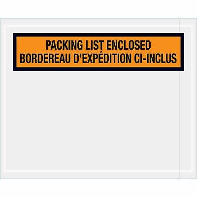 "/""Packing List Enclosed Envelopes 1000//Case PL12/"" Orange 4 1//2/""/""x5 1//2/""/"""