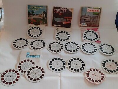 Viewmaster stereo pictures Star Trek Disneyland Jungle Book Storybook Gardens