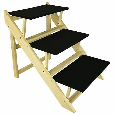 Strong Folding Pet Cat Dog 3 Step Ladder Ramp Stairs Non Slip Tread Home Safety