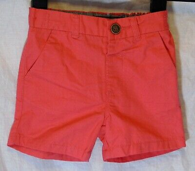 Baby Boys Next Dusky Red Adjustable Waist Chino Cotton Shorts Age 12-18 Months