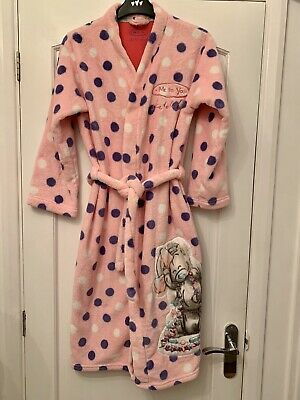 Me To You Bear Girls Dressing Gown 11-12 M&S Girls Pink Night Robe Tatty Teddy