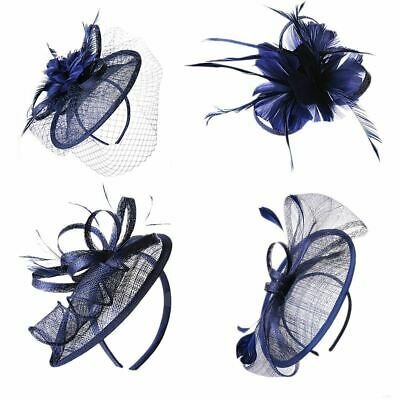Flower Feather Fascinator Wedding Royal Ascot Races Proms Bridal Hair Accessory