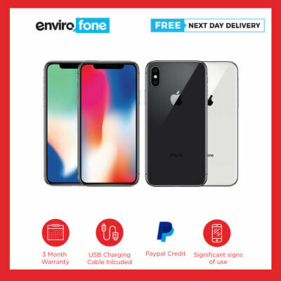 Apple iPhone X (iPhone 10) 64GB 256GB SIM Free Poor Condition Used Smartphone