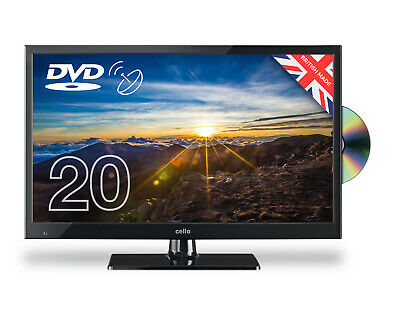 """Cello 20"""" Inch Led Tv Freeview Hd Built-In Dvd Sat Tuner Hdmi, Vga Usb Brand New"""