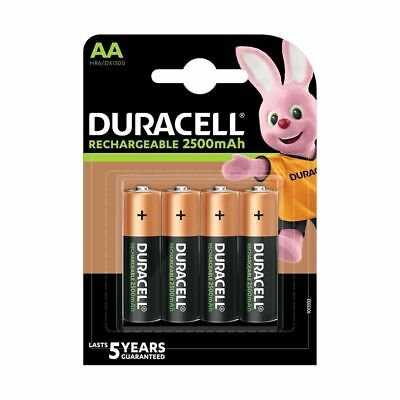 Duracell AA (4 pack) 2500mAh 5 year guaranteed rechargeable batteries