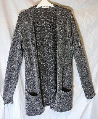 Girls H&M Grey Speckle Long Line Open Fronted Cardigan Jacket Age 14-15 Years