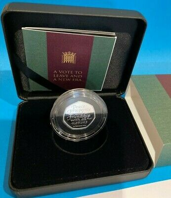 *OFFICIAL UK 2020* Brexit Silver PROOF 50p Fifty Pence Coin Brand New, In Hand