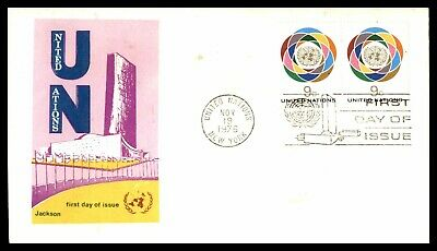 MayfairStamps United Nations 1976 UN 9 Cent Pair Organization Jackson First Day