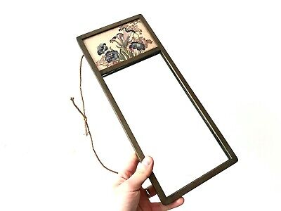 Antique Floral Arts and Crafts Mirror