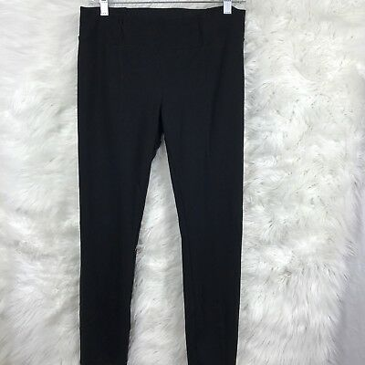 Eileen Fisher Black Stretch Slim Skinny Casual Black Pants Woman Size Small AB