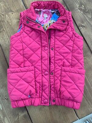 Joules Girls Gillett/ Body Warmer Age 9-10 Years Pink