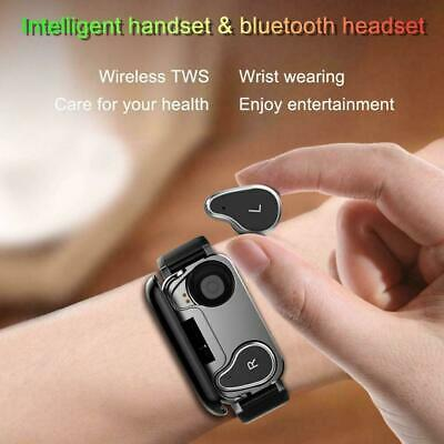 TWS T89 Smart Watch Bluetooth Earphone Heart Rate Monitor With Watch Cable D1W8
