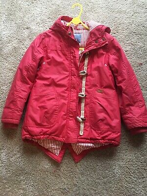 Next Girls Age 9 Coat/ Jacket Dark Pink/ Red.
