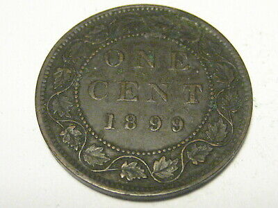 1899 Canadian Large Cent XF